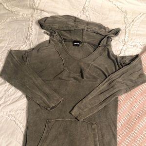 Army Green Distressed Sweatshirt